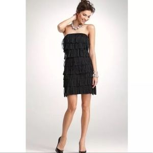 Ann Taylor Tulle Tiered Fringe Strapless Dress 2
